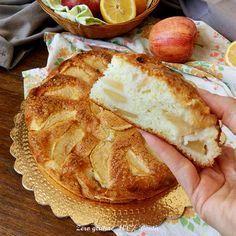 Torta di mele con albumi e limone senza glutine e lattosio