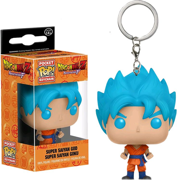 Super Saiyan Goku God Blue Pocket Pop! Keychain | Dragon Ball Z | Popcultcha | Funko
