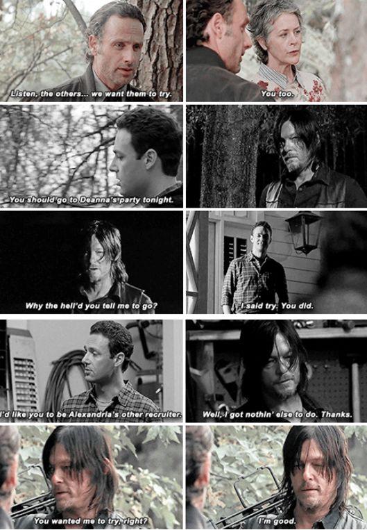 Conversa entre Rick, Daryl e Carol / Conversa entre Daryl e Aaron (Forget - 513)…