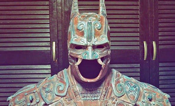 Batman con un toque prehispánico al puro estilo Mexicano