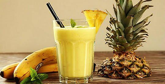 Frullato di ananas e banana per perdere peso | Rimedio Naturale