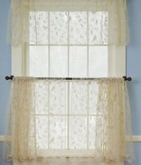 Bird Song Scalloped Tier Panel Valance From Country Curtains