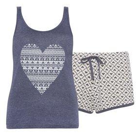Primark - Pyjama set met folklore print hartjes