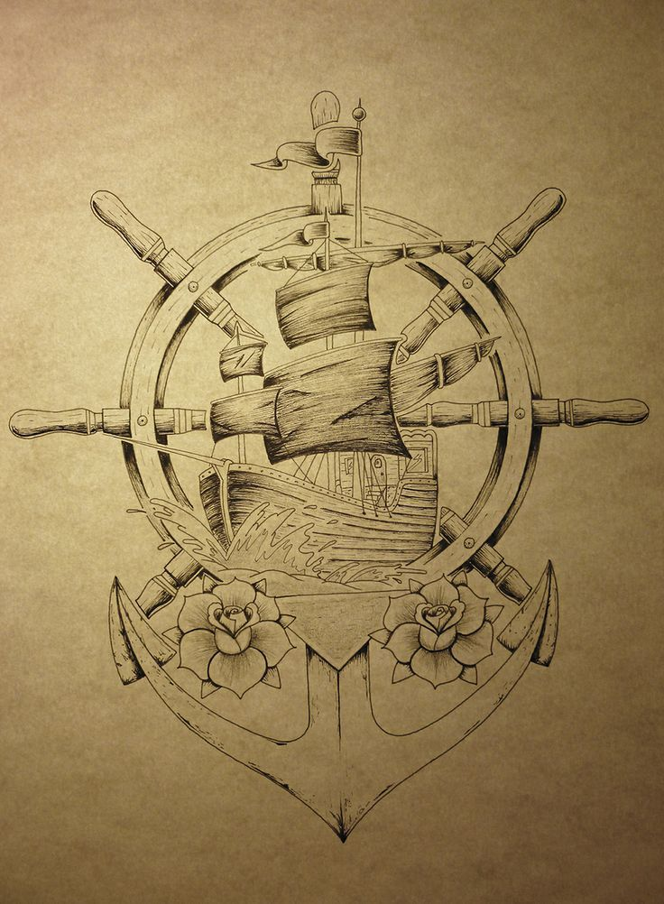 Best 25 anchor tattoo design ideas on pinterest anchor tattoos the compass and compass tattoo - Dessin ancre bateau ...