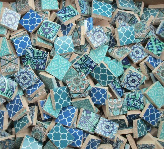 Bulk Mosaic Tiles 2 Pounds Mixed Designs Patterns Blue Moroccan Tiles Bulk Mosaic Tiles For Mosaic Art Sup Mosaic Tiles Mosaic Art Supplies Mosaic Supplies