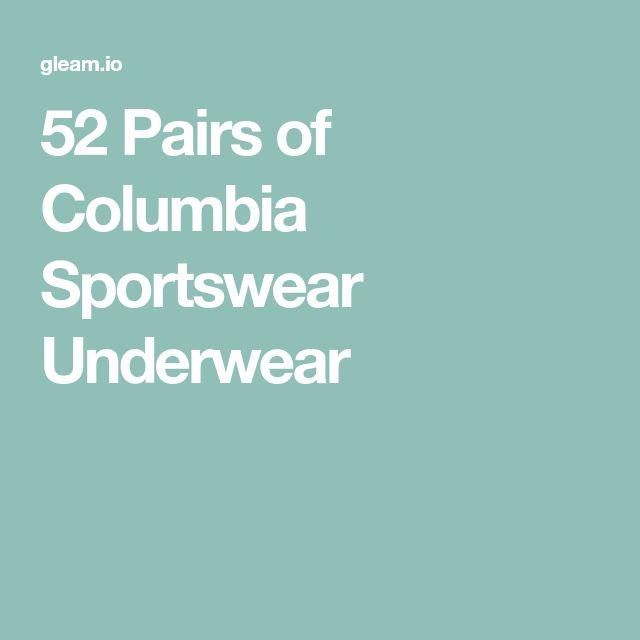 52 Pairs of Columbia Sportswear Underwear