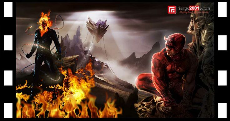 Scene 7: Ghost Rider vs Daredevil !http://fargo2001.com/action-figures-96