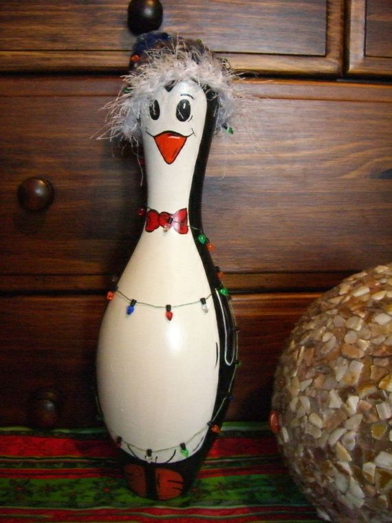 Penguin+Bowling+Pin+by+erwindoodads+on+Etsy,+$20.00