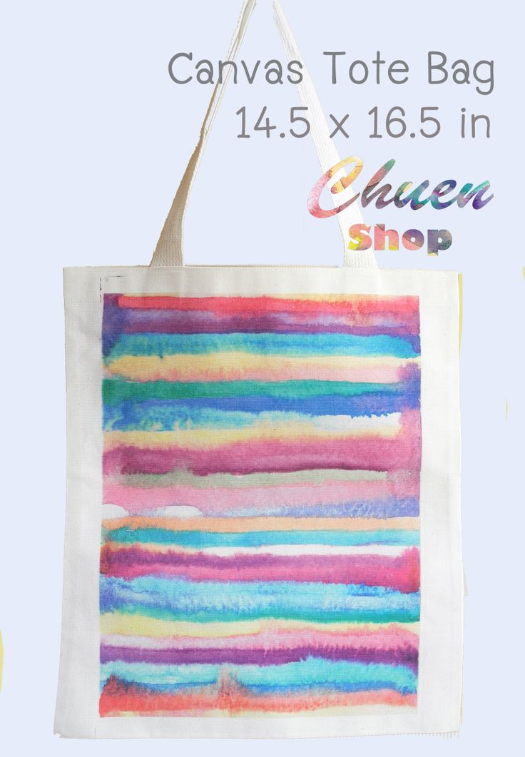 watercolor painting printed on canvas tote bag artwork title : 'Absorb'