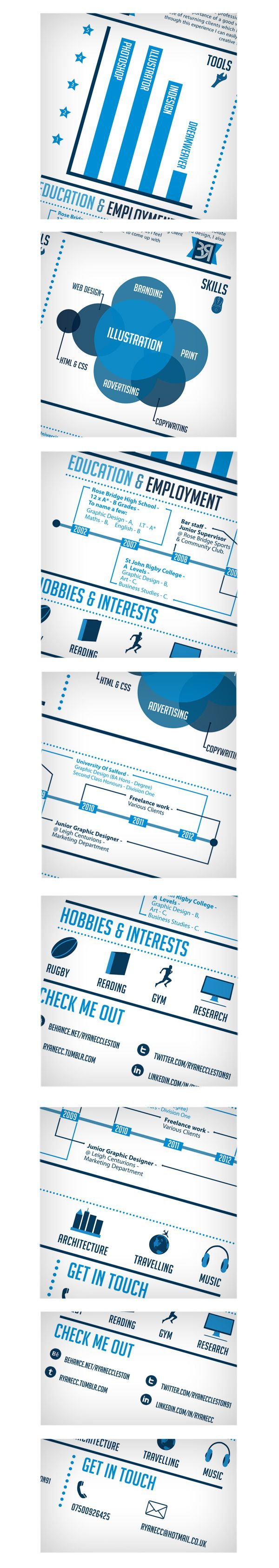 108 best ideas about creative resumes infographic curriculum vitae web design by ryan eccleston via behance