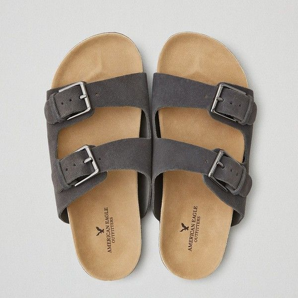 American Eagle Double Buckle Sandals (51 CAD) ❤ liked on Polyvore