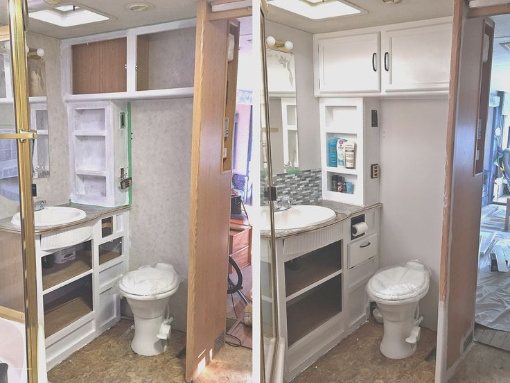 Small Rv Remodel before and after - New Small Rv Remodel before and after, Bathroom Remodel Ideas before and after