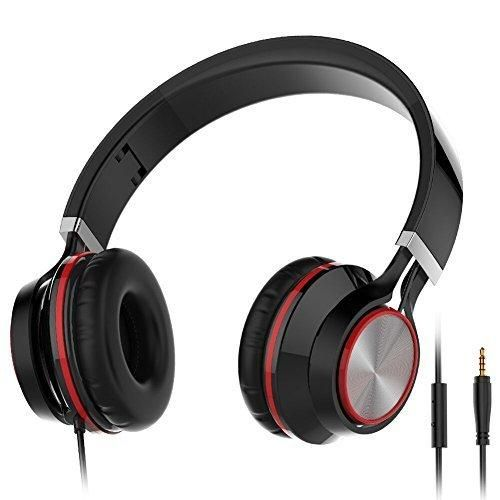 Red Ant R480 Headphones Noise Isolating Earphones Headsets with Microphone for Smartphones (Black)