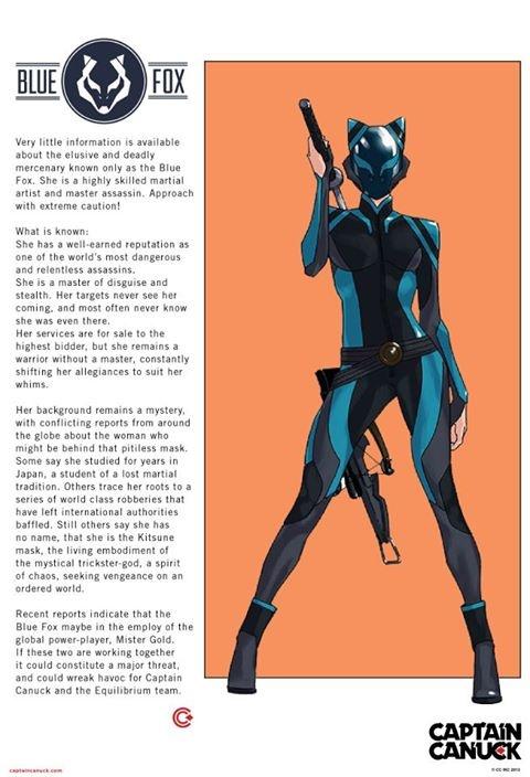 Captain Canuck Blue Fox  Blue  Superhero Design -7711