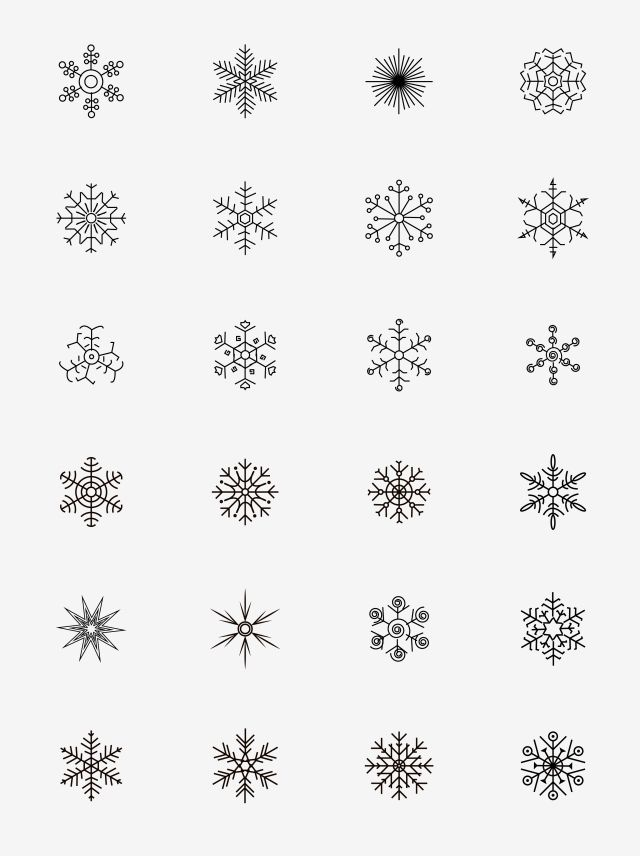 24+ Vector snowflake clipart black and white information