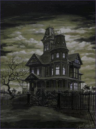 Halloween Lights   Haunted House Animation