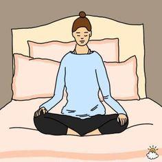 Diese einfachen Bewegungen können sehr hilfreich sein, um besser einschlafen zu können.