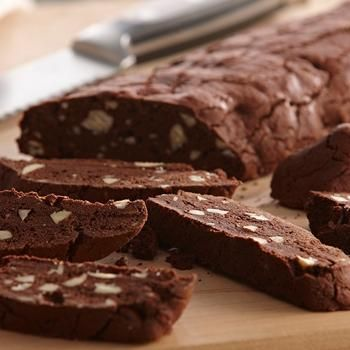Chocolate Almond Biscotti Recipe-have always wanted to try Biscotti                                                                                                                                                                                 More