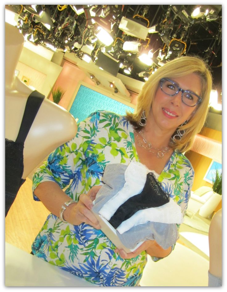 QVC launches GO2BRAS lacy cami bra! 2013 with founder Connie Elder.