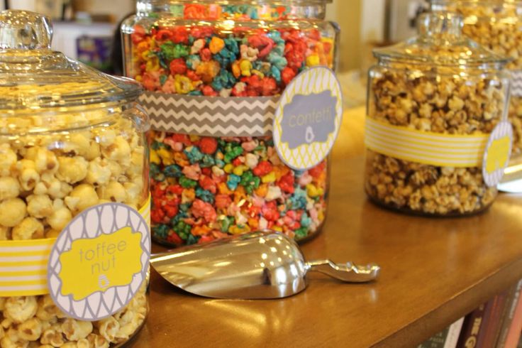 Images For Baby Shower Popcorn Bar Mycheapstore