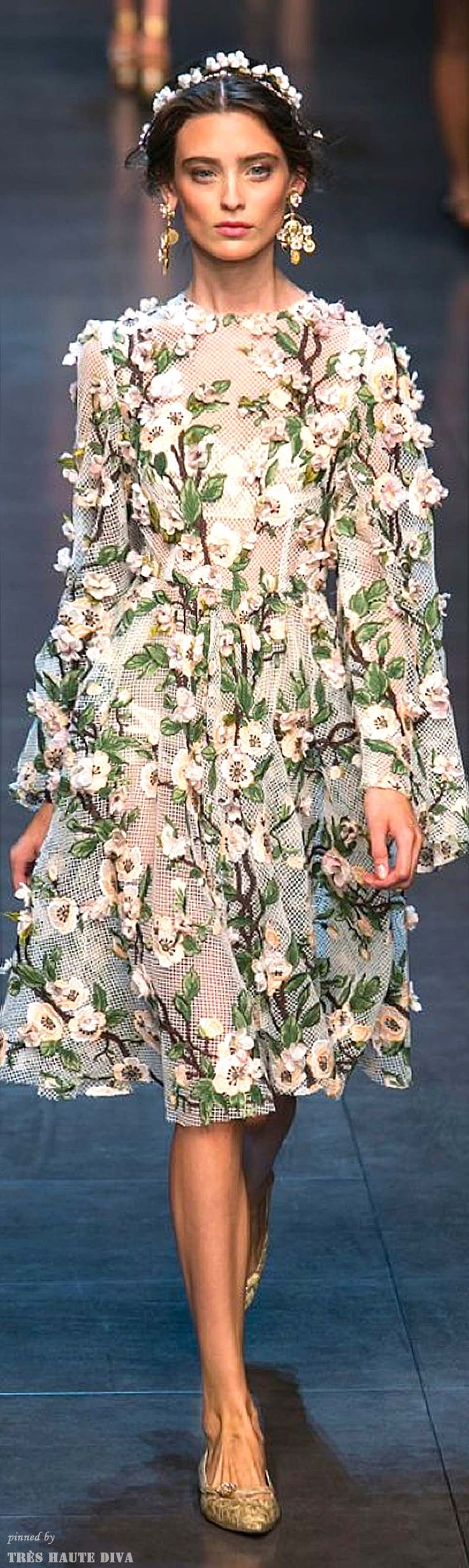 Floral. -- Dolce & Gabbana Spring 2014 RTW