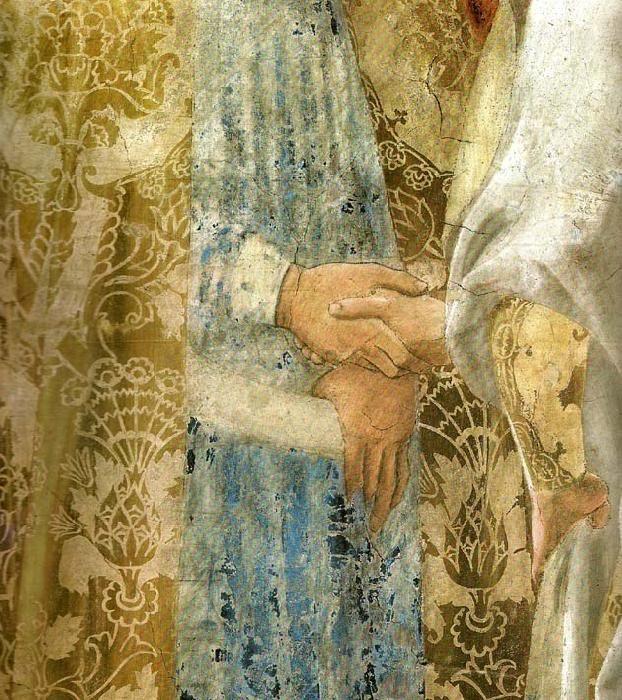 Piero della Francesca the <b>legend of the true cross</b>, detail oil ...