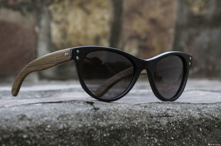 Anteojo de madera y acetato, lentes de sol   Nomade