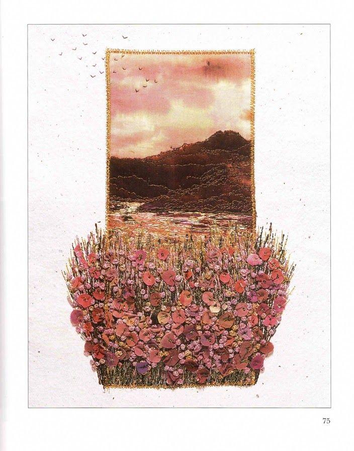 """Фото из альбома """"картины из вышитых цветов+Открытки из ткани"""" - GoogleФото"""
