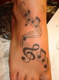 music tattoos examples -- LOVE