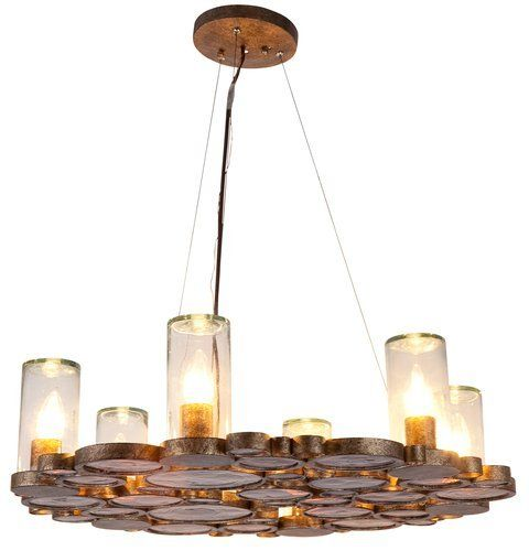 Chandelier With Recycled Glass