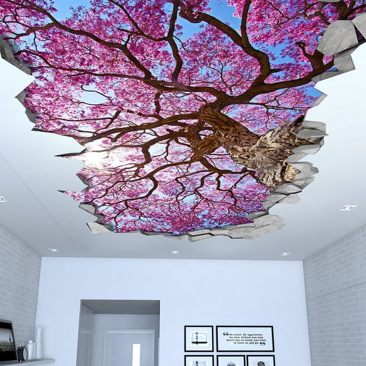 Sakura Cherry Tree Ceiling 3d Wallpaper 3d Wandtattoos 3d