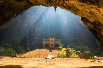 Sam Roi Yot National Park - attractions  Pavilion in Phraya Nakorn Cave