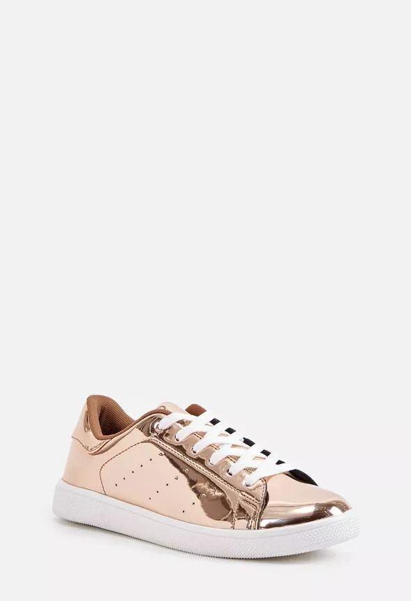"""A fierce metallic sneaker that's perfect for elevating your daily style. Shoe Details. Heel Height: 1.0"""". Platform Height: N/A. Measurements will vary slightly. Synthetic Upper. Man Made Sole. Imported."""