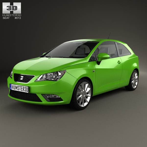 Seat Ibiza SC 2013 3d model from humster3d.com. Price: $75