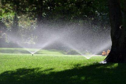 Fall lawn watering