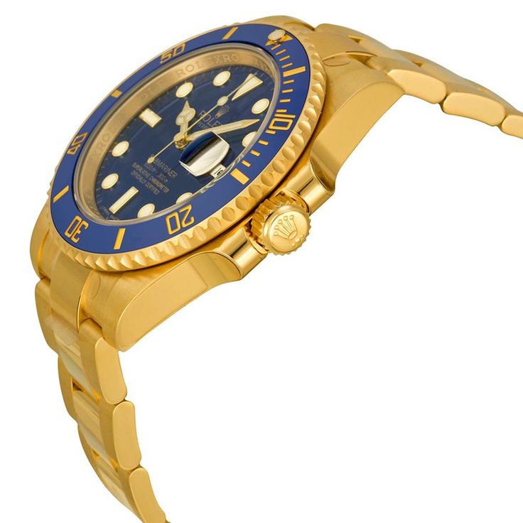 Cheap Rolex Submariner Price: Rolex Submariner Blue Dial 18kt Yellow Gold Oyster Bracelet Mens Watch 116618BLSO  #Rolex #Submariner #RolexSubmariner