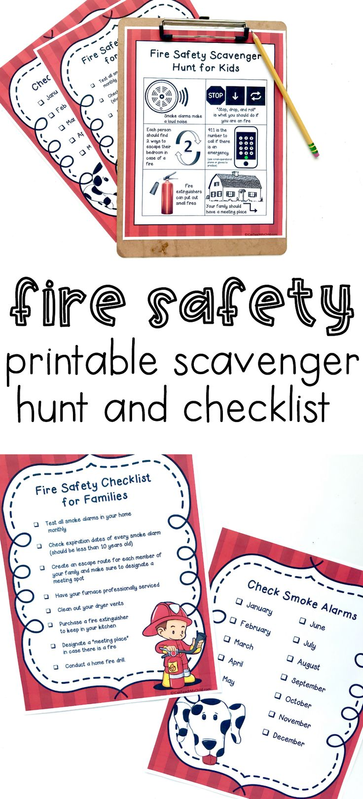 Fire Safety Checklist And Scavenger Hunt I Can Teach My Child Fire Safety Preschool Fire Prevention Week Fire Safety For Kids [ 1619 x 736 Pixel ]