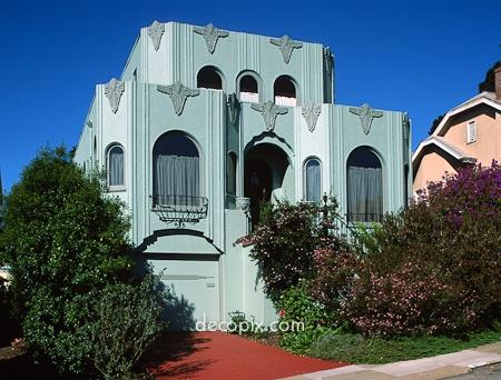 Art deco architecture house