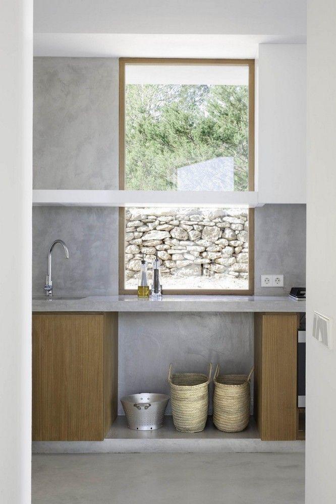 Kitchen #view #concrete