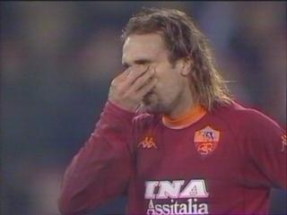 Batigol weeps after scoring against Fiorentina, 12 years ago today.