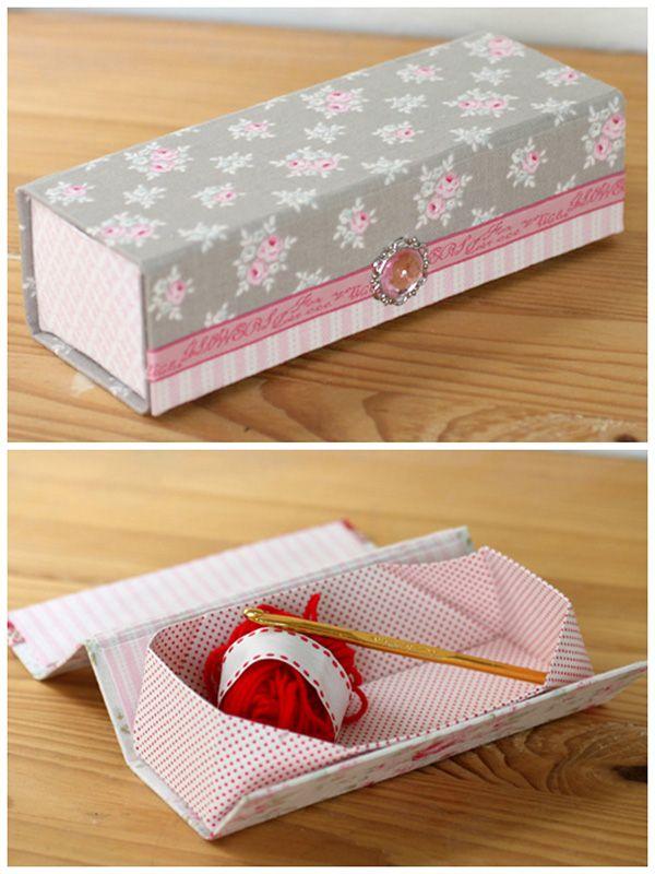 handmade fabric covered box