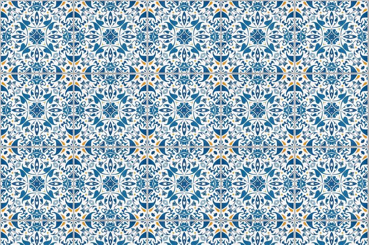 For a wallpaper that adapts to any type of room interior or furniture, our Blue & Orange Portuguese Tiles Wallpaper is an excellent choice for homeowners.