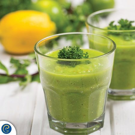 Here's a refreshing green smoothie recipe to start your week off with: Makes one large smoothie You will need a handheld or bench-top blender A handful of baby spinach 1 lemon  1 cucumber  1-2 celery sticks  1 frozen banana  1 tbsp coconut oil  300ml coconut water  4-6 ice cubes   Blend and enjoy!