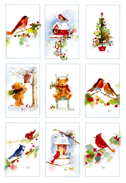 Sweet Christmas Watercolor Jennifer Fitchwell - Artist