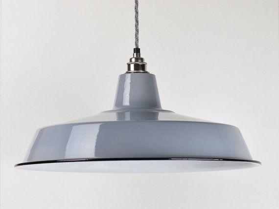 enamel industrial suspension Metal hanging lamp, Industrial ceiling lamp Black metal ceiling lighting vintage industrial pendant light