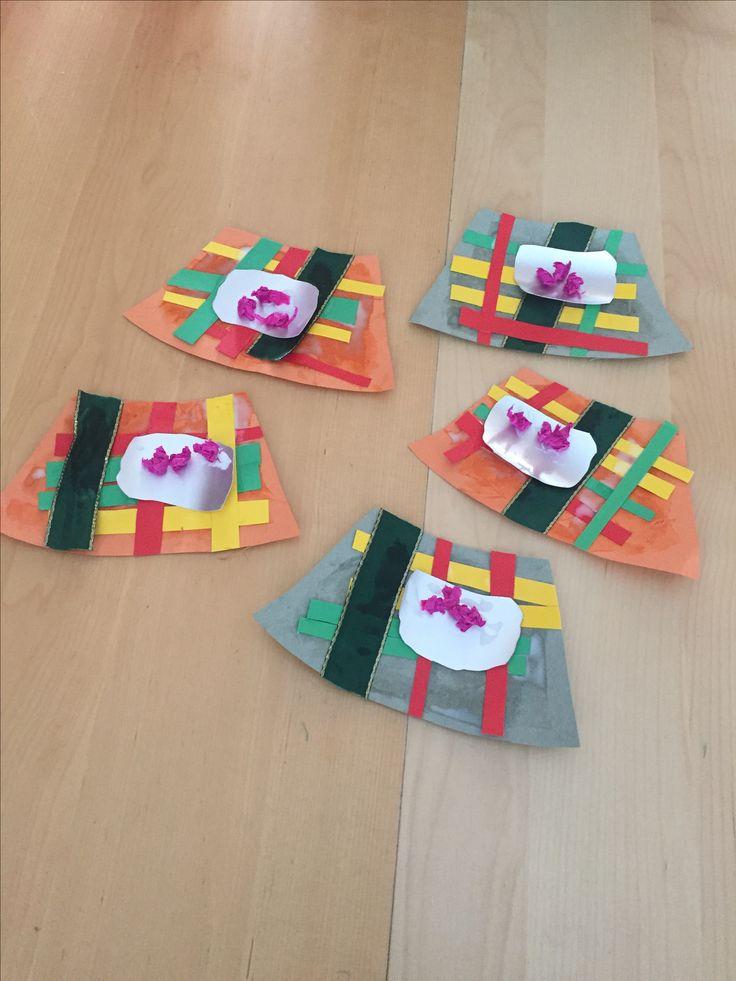 Kilts for Burns night 25th Jan.  #scottish #scotland #crafts #preschool #sticking #burnsnight