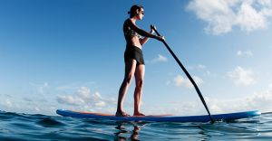 Try stand-up paddle boarding. Originating in Hawaii, stand-up paddle boarding is a watersport that stemmed from surfing. Visit www.roadahead.com.au for more.