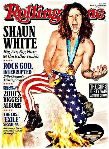 Шон Уайт на обложке журнала Rolling Stone! После победы на Олимпиаде в Ванкувере.