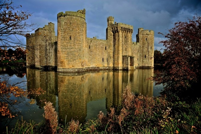 Giants Castle - Bodiam in Hastings - Scottland, Uk castle
