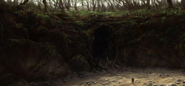 Cave Entrance By Joakimolofsson Deviantart Com On